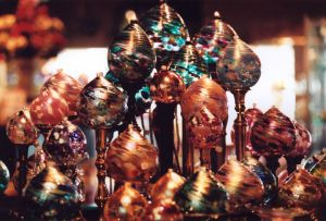 Turquoise and Gold Ornaments II