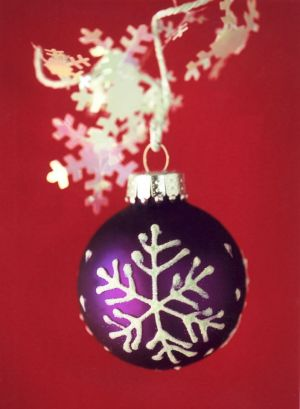 Purple Snowflake I