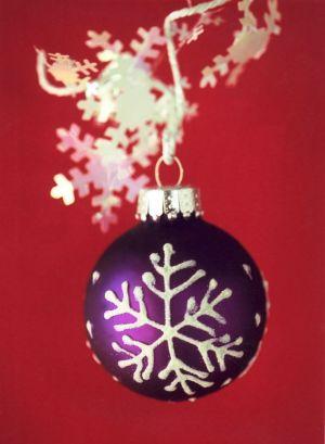 Purple Snowflake I