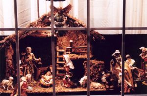 Nativity through Window